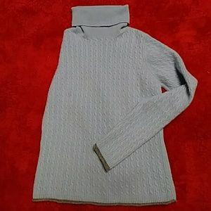 Cashmere cable knit turtle neck